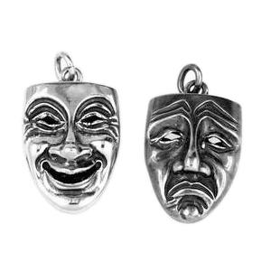 Anhänger Masken, Charms in Silber und Gold