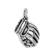 Anhänger Baseballhandschuh in echt Sterling-Silber 925 oder Gold, Charm, Ketten- oder Bettelarmband-Anhänger