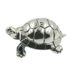 Zierfigur Schildkröte in echt Sterling-Silber 925, Standmodell