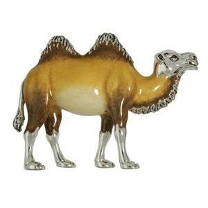 Zierfigur Kamel in echt Sterling-Silber 925 emailliert, Standmodell