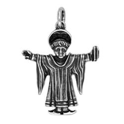 Anhänger Münchner Kindl, Rathausturm in echt Sterling-Silber 925 oder Gold, Ketten- oder Schlüssel-Anhänger