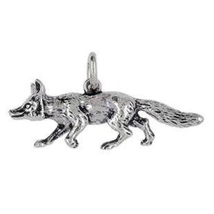 Anhänger Fuchs in echt Sterling-Silber oder Gold, Ketten- oder Schlüssel-Anhänger