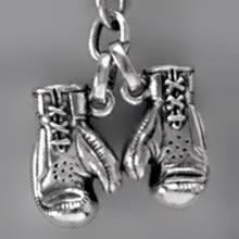 Anhänger Boxhandschuhe in echt Sterling-Silber 925 oder Gold, Ketten- oder Schlüssel-Anhänger