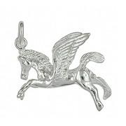 Anhänger Pegasus, Pegasos in echt Sterling-Silber 925 oder Gold, Charm, Ketten- oder Bettelarmband-Anhänger