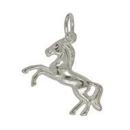 Anhänger Pferd in echt Sterling-Silber 925 oder Gelbgold, Charm, Ketten- oder Bettelarmband-Anhänger