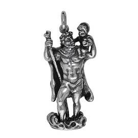 Anhänger Christophorus, Charms in Silber und Gold