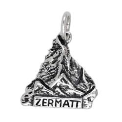 Anhänger Matterhorn, Zermatt in echt Sterling-Silber 925 oder Gold, Charm, Ketten- oder Bettelarmband-Anhänger