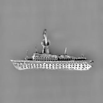 Anhänger Passagierschiff in echt Sterling-Silber 925 und Gold, Ketten- oder Schlüssel-Anhänger