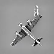 Anhänger Flugzeug Junker Ju 52 in echt Sterling-Silber 925 oder Gold, Charm, Ketten- oder Bettelarmband-Anhänger