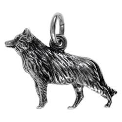 Anhänger Wolf in echt Sterling-Silber 925 oder Gold, Charm, Ketten- oder Bettelarmband-Anhänger