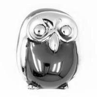 Zierfigur Eule in echt Silber 925, Standmodell