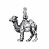 Anhänger Kamel in echt Sterling-Silber 925 oder Gold, Charm, Ketten- oder Bettelarmband-Anhänger