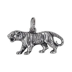 Anhänger Tiger in echt Sterling-Silber 925 oder Gold, Ketten- oder Schlüssel-Anhänger