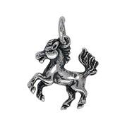 Anhänger Pferd in echt Sterling-Silber 925 oder Gold, Charm, Ketten- oder Bettelarmband-Anhänger