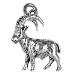 Anhänger Steinböcke, Charms in Silber & Gold