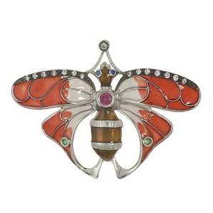 Anhänger Schmetterling, Falter in echt Sterling-Silber 925 emailliert, Ketten- oder Schlüssel-Anhänger