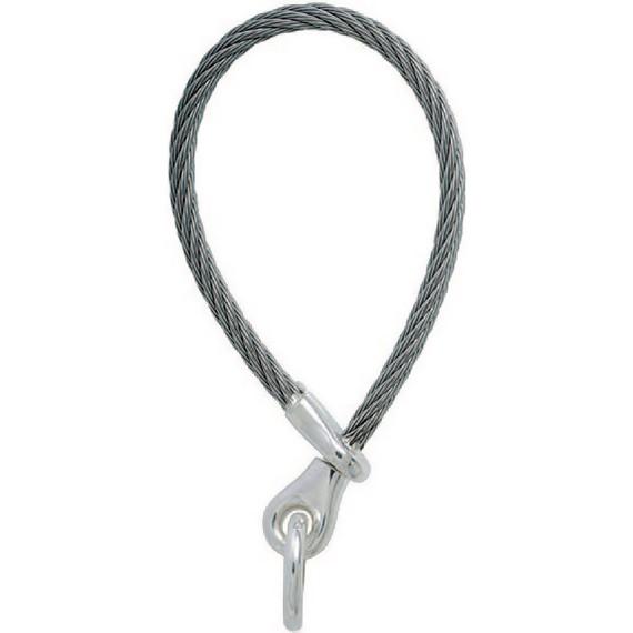 Stahlseil-Schlüsselring, Schlüsselmechanik mit Schraubverschluss & Ösen in Sterling-Silber 925 für Anhänger