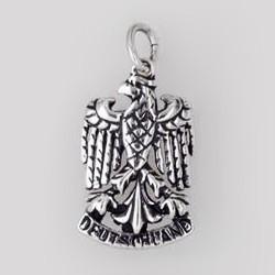 Anhänger Adler, Deutschland in echt Sterling-Silber oder Gold, Charm, Ketten- oder Bettelarmband-Anhänger